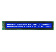Display 40x2 LCD Module Character Datasheet PDF,KS0066,White on Blue ERM4002SBS-1